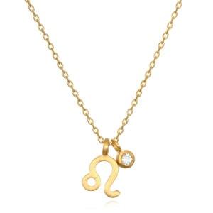 The AstroTwins Leo Zodiac Necklace