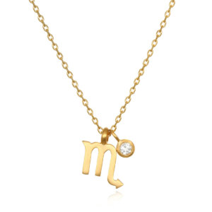 The AstroTwins Scorpio Zodiac Necklace