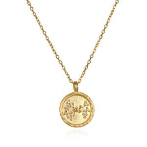 Scorpio Zodiac Necklace Gold