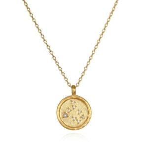 Gemini Zodiac Necklace Gold